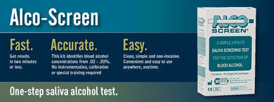 Alco-screen 2 Minute saliva alcohol test