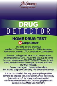 allsource drug detector 12 panel home screen