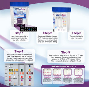 MDC-1135 13 panel drug test cup