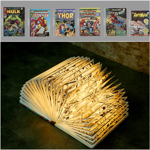 Novelty Folded Paper Comic Book Led Lamp