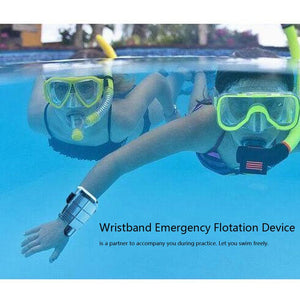 A Wristband Emergency Flotation Device