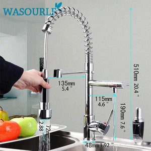 Kitchen Chrome Plated Brass Faucet