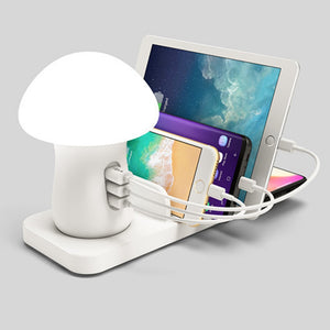Mushroom LED Lamp with USB Charger