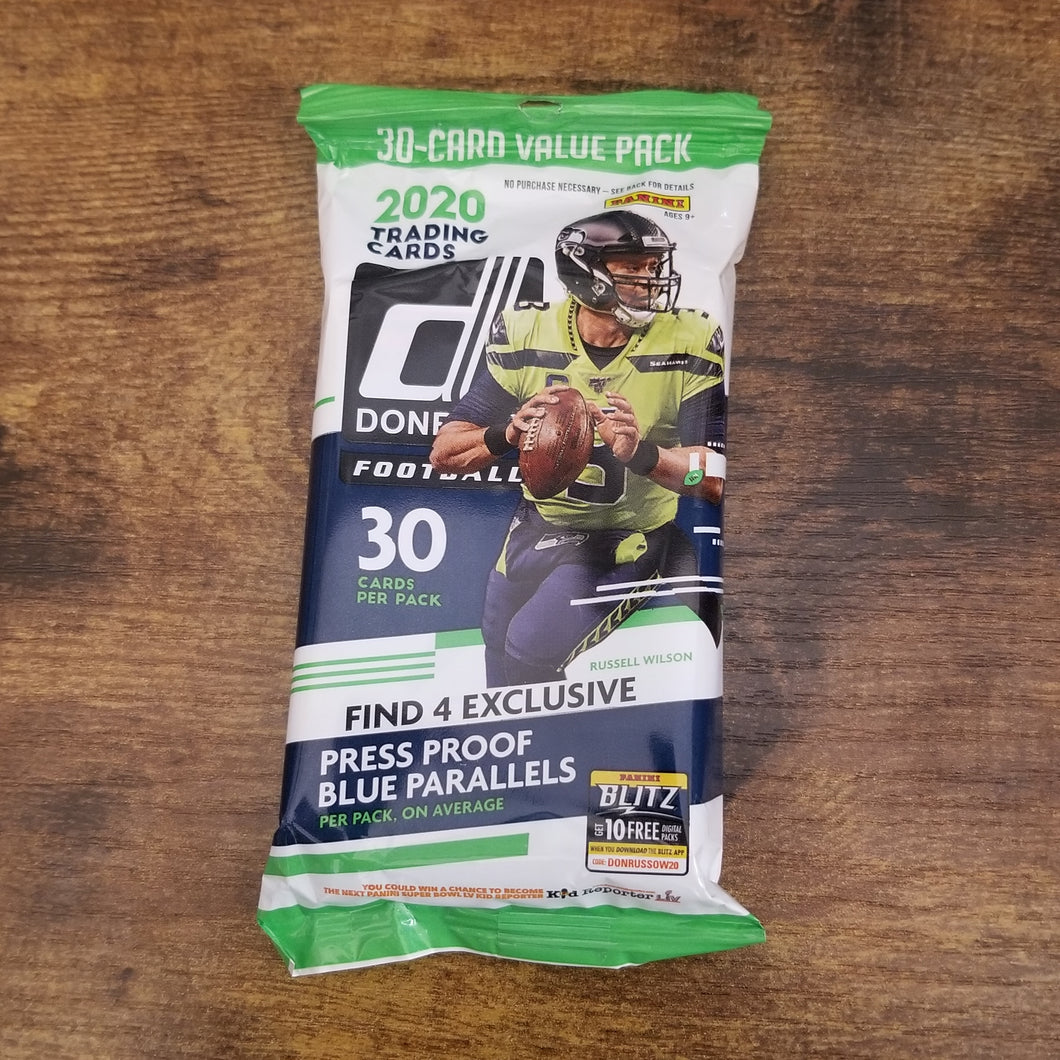 2020 Panini Donruss Football Value Pack ( 30 Cards )