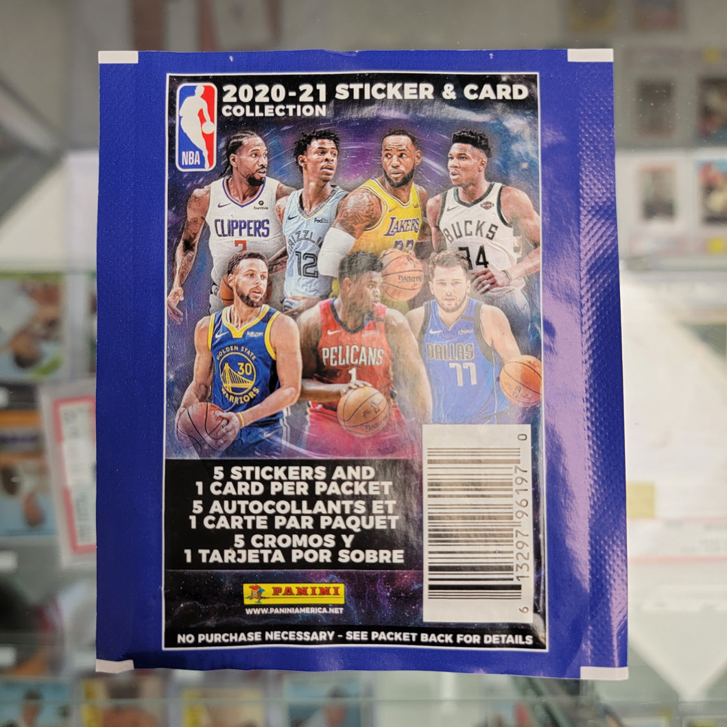 2020-21 Panini NBA Sticker Card Pack