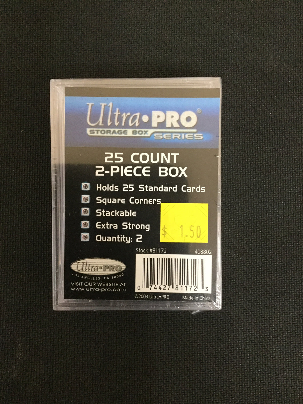 Ultra Pro 25 Count 2 Piece Box 2 Pack