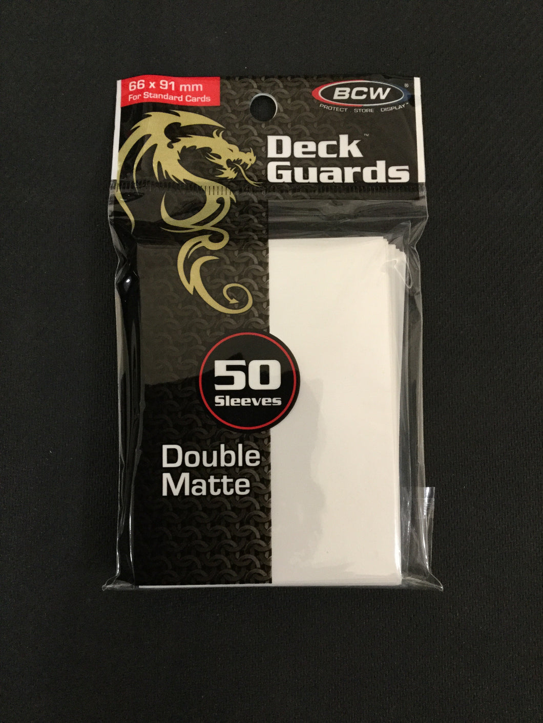 BCW White Deck Guards