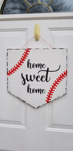 Baseball Home Sweet Home Door Hanger
