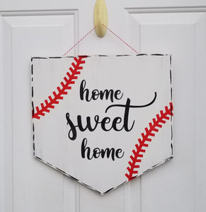 Home Sweet Home Home Plate Door Hanger