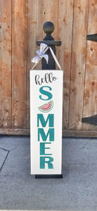 Watermelon Summertime Sign and Hanging Post