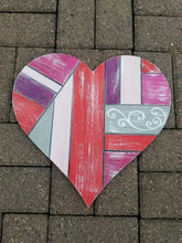 "Load image into Gallery viewer, 22"" Patchwork Heart Door Hanger"