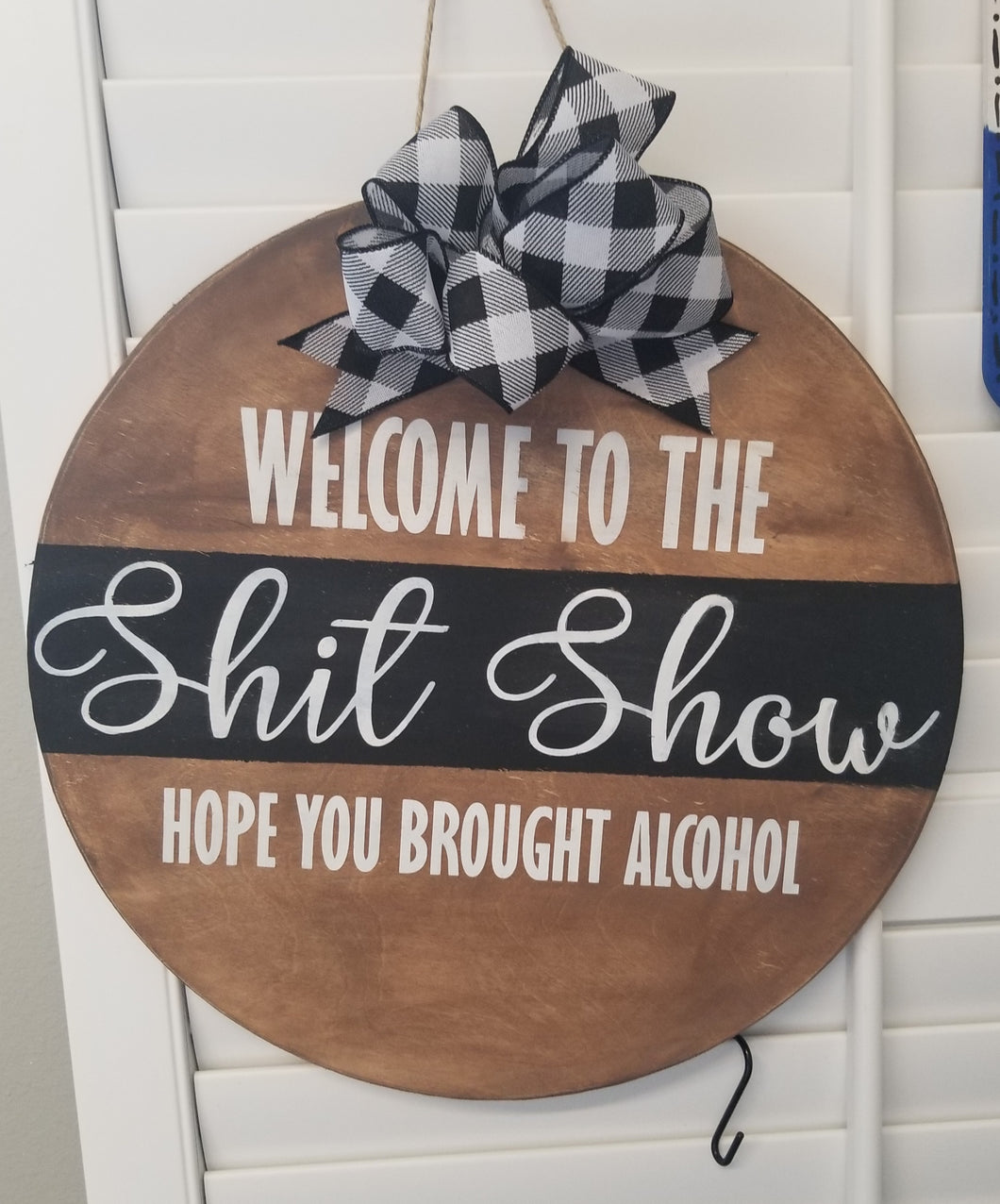 Welcome to the Shit Show Door Hanger