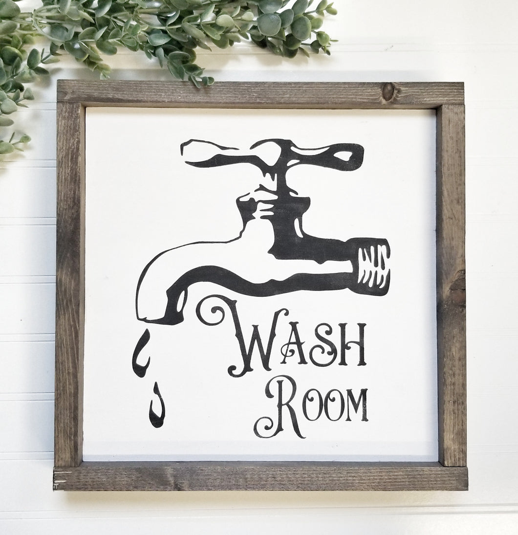 Wash Room Sign
