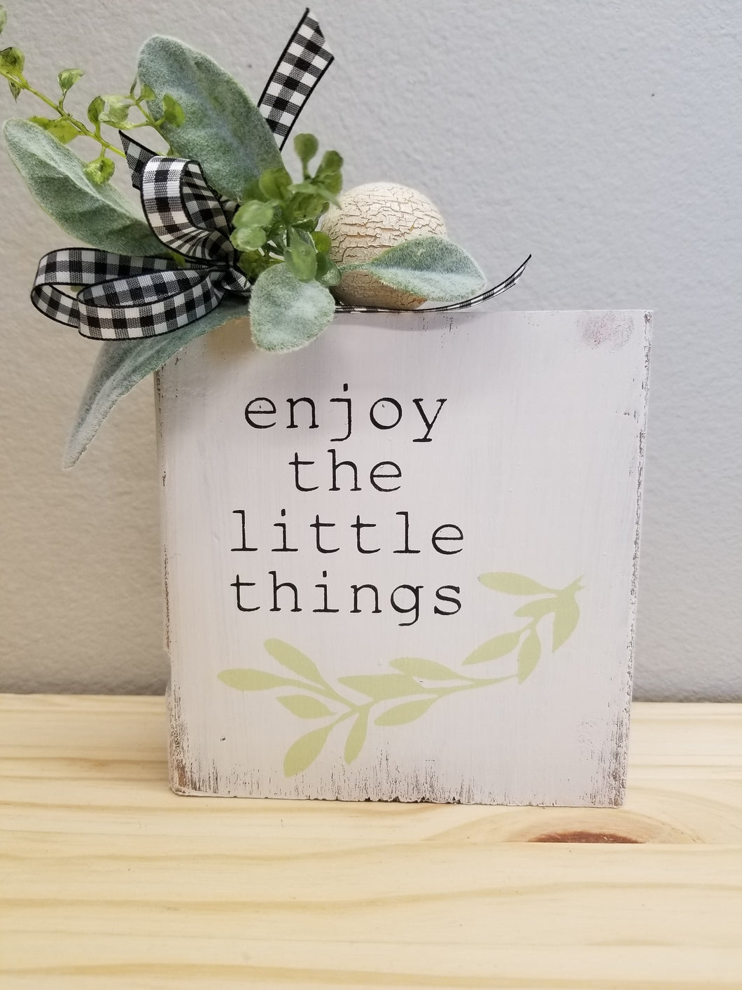 Enjoy the Little Things Block