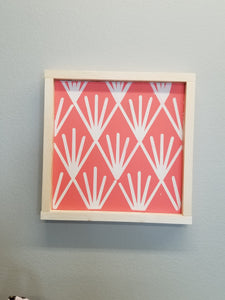 Coral Framed Patterned Sign