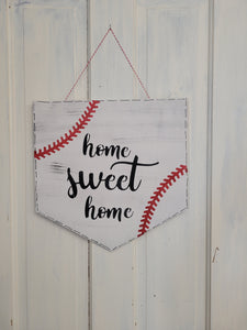 Baseball Home Sweet Home Doorhanger