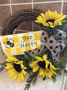 Bee Happy Wreath Class
