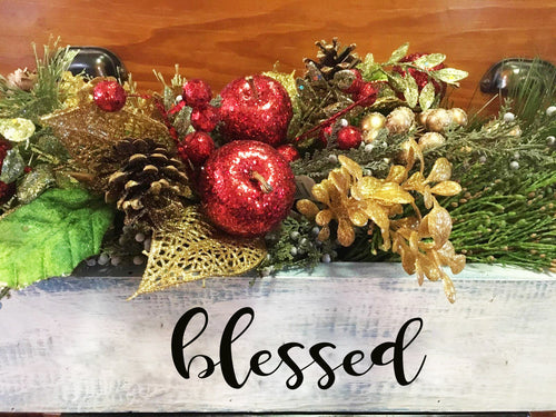 NOV. 19th-Winter Personalized Box Centerpiece