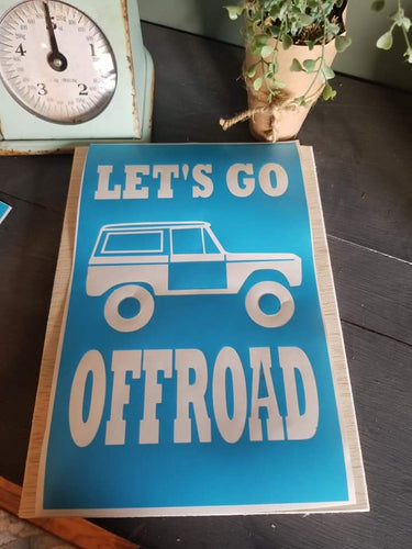 Let's go offroad