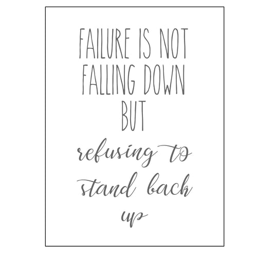 Failure Is Not Falling Down