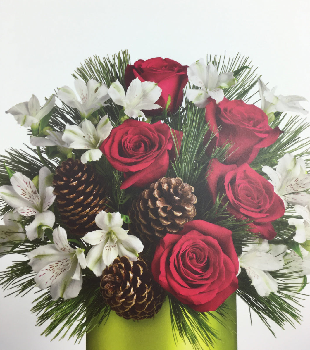 DEC 17th- Holiday Fresh Flower Centerpiece