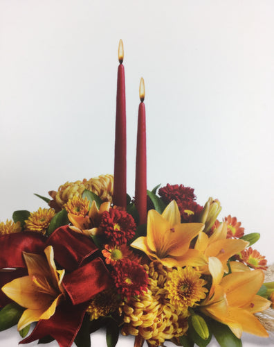 NOV. 25th-Fresh Thanksgiving Candle Centerpiece