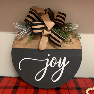 Joy Round Door hanger