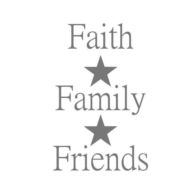 Faith Family Friends - Star
