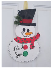 Load image into Gallery viewer, Snowman Door Hanger
