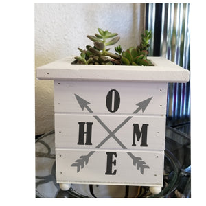 Square Shiplap Planter