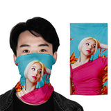 twice 3D turban uv face shield head custom bandana scarf kerchief