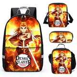New Demon Slayer School Backpacks Shoulder Bag Lunch Bag
