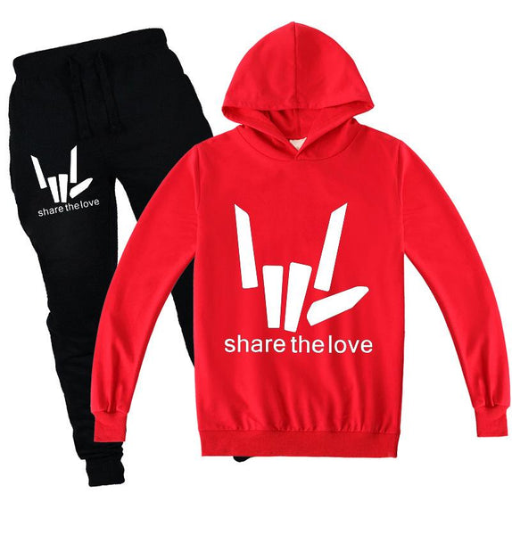 Kids share the love shirt and pants 2pcs