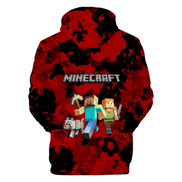 Fashion Minecraft Hoodie Pullover Hooded Sweatshirt