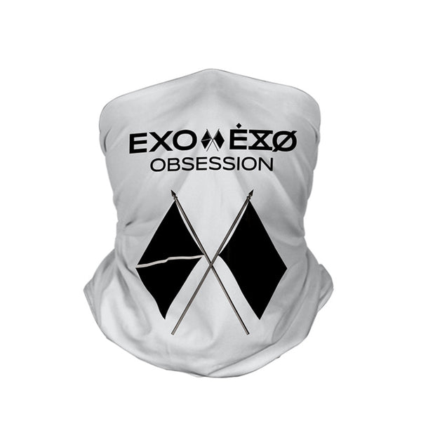 EXO in the FRANXX 3D turban uv face shield head custom bandana scarf kerchief