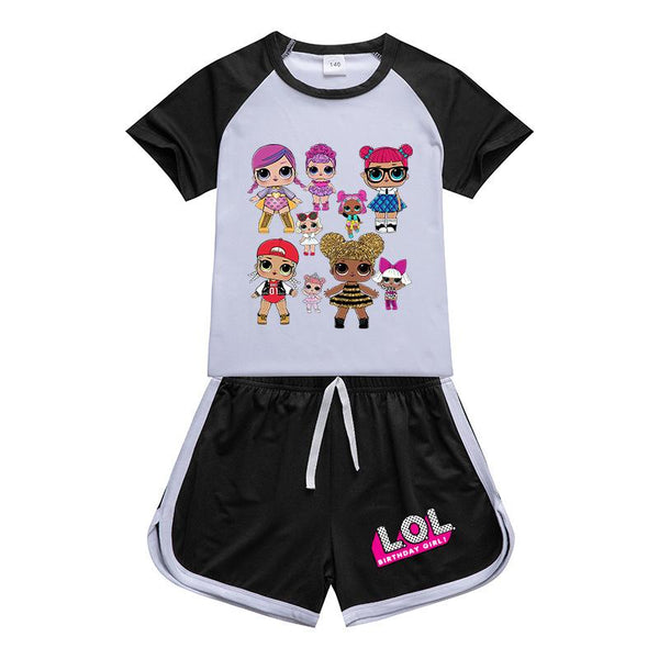 Kids lol Surprise Sportswear Outfits T-Shirt Shorts Sets