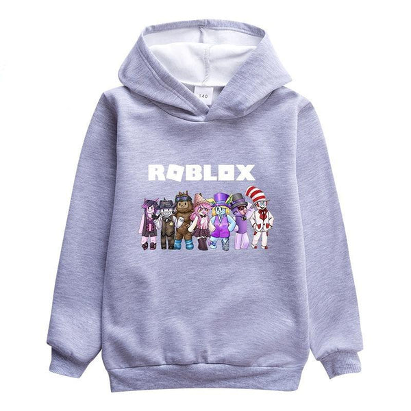 Kids  Hooded Sweatshirt Roblox Pattern Fleece Pullover Hoodie