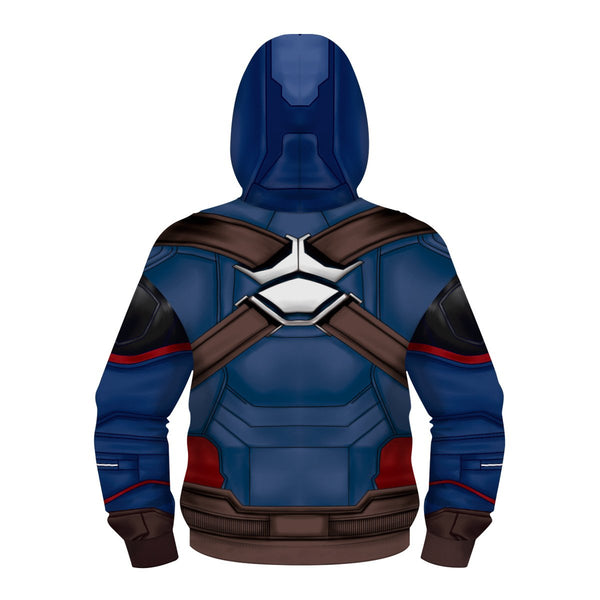 Kids Avengers Captain America zip up hoodie Unisex Jacket