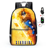 Cool Stargirl 3D Print Backpack for Kids School Bookbag Lunch Bag Pencil Bag 3 Piece Set