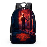 Casual Stylish 3D Stranger things Print School Backpack For Boys Girls Students 4PCS