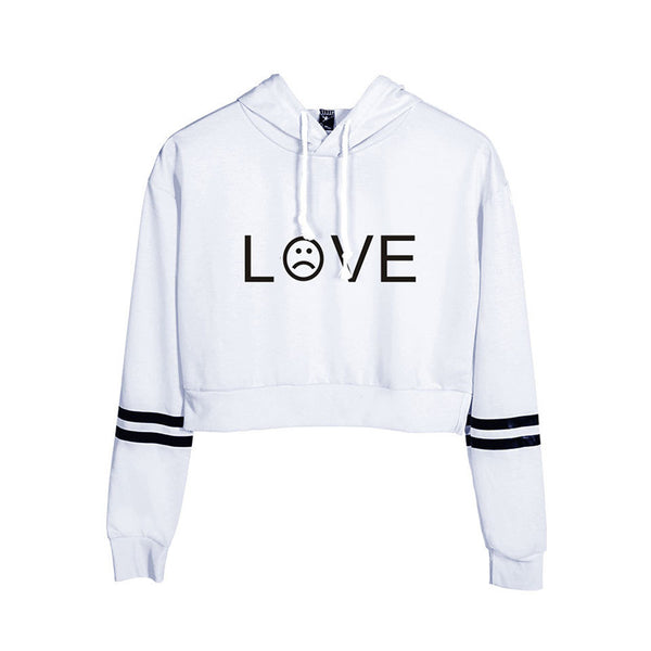 Lil Peep Letter LOVE Cropped Hoodie Sex Pullover Crop Tops