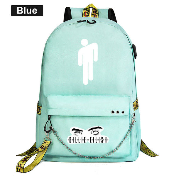 Billie Eilish Backpacks for Men Travel Hiking Women School Boys and Girls Bag Student