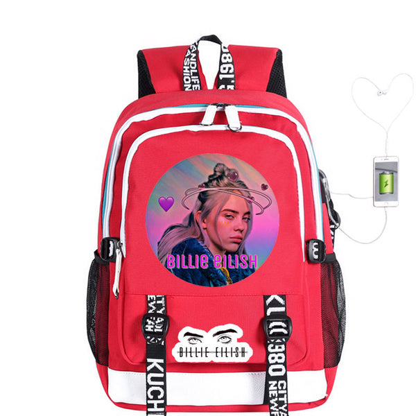Fashion Billie Eilish Backpacks for Girls Students Women Travel
