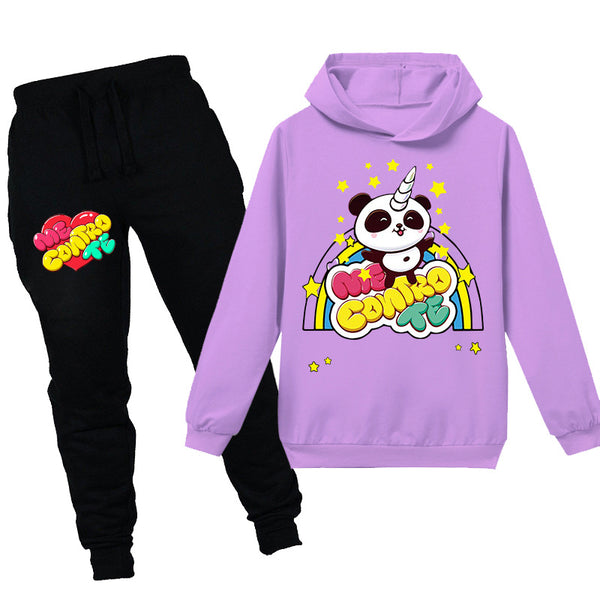 Cartoon me contro te Print Children's Hoodie + Pantsuit