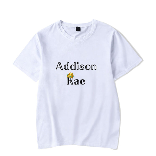 Unisex Casual Stylish Addison rae Print Pure Cotton Short Sleeve Tops