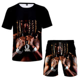 Casual King Von Short Sleeve Tees Beach shorts Two Piece Set