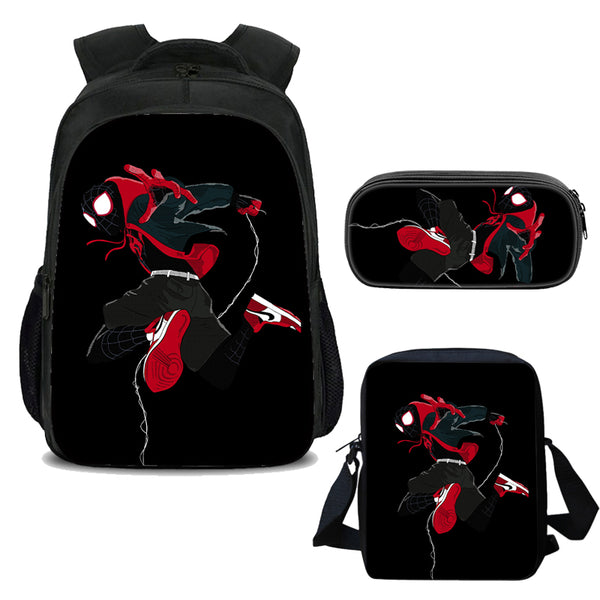 Spider-Man  Student  Bookbag Lightweight Laptop Bag with Shoulder Bags and Pen Case for Teen Boys and Girls