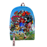 Fashion Sonic the Hedgehog 3D Printed School Backpack Daypacks for Girls