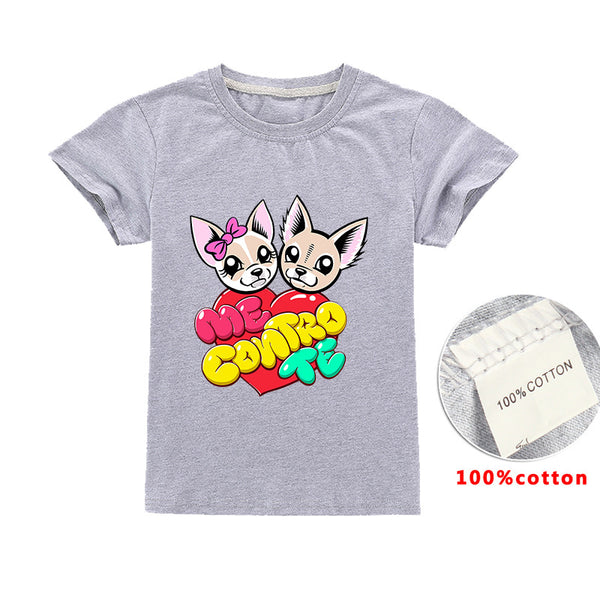 Cartoon me contro te 100% Cotton Printed T-shirt for Children