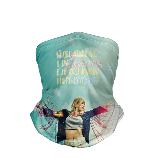 Taylor Alison Swift     3D turban uv face shield head custom bandana scarf kerchief